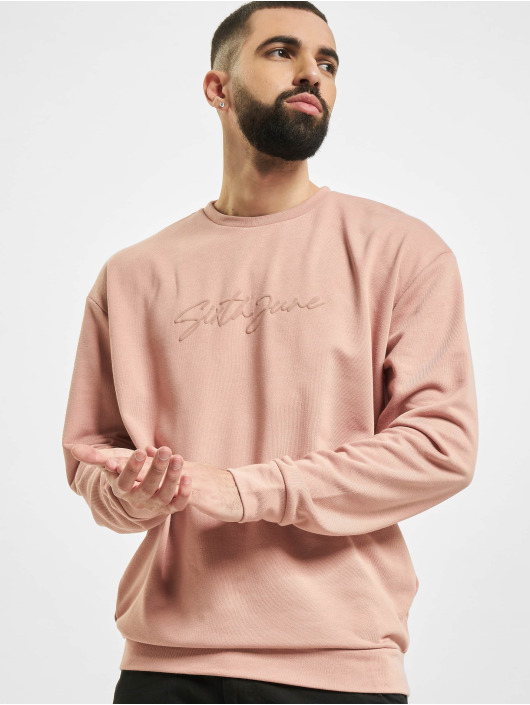 Sixth June Pullover Signature Velvet Logo rose
