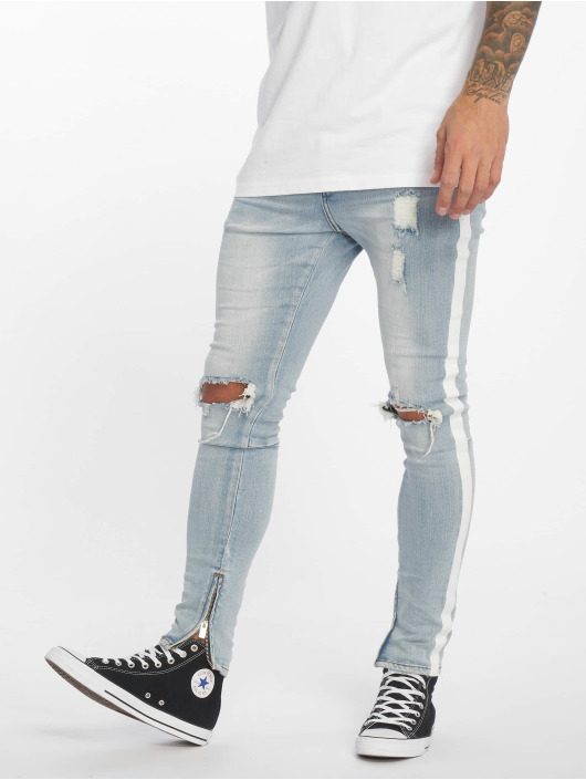 Sixth June Skinny Jeans Stripes blue