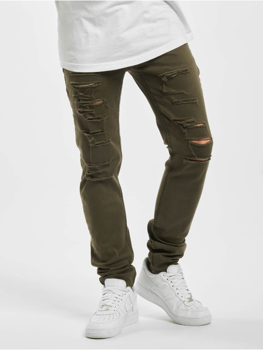 Sixth June Skinny Jeans Destroyed khaki