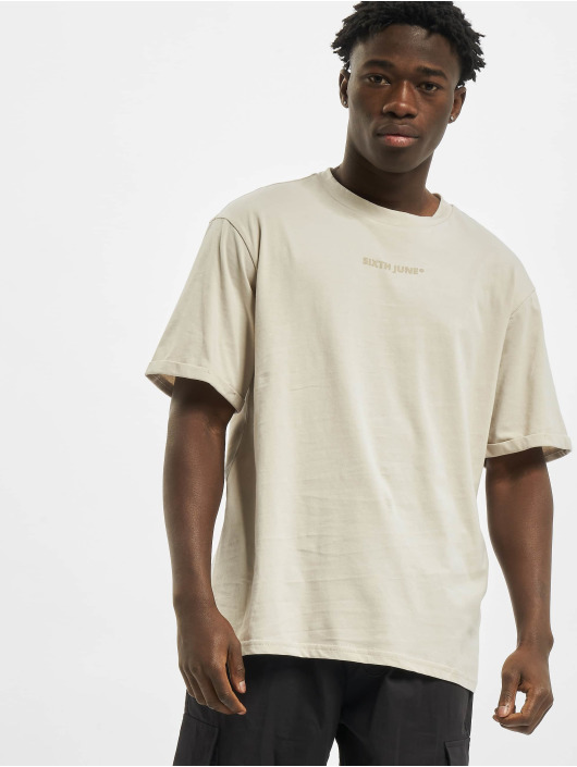 Sixth June T-Shirt Basic Logo beige