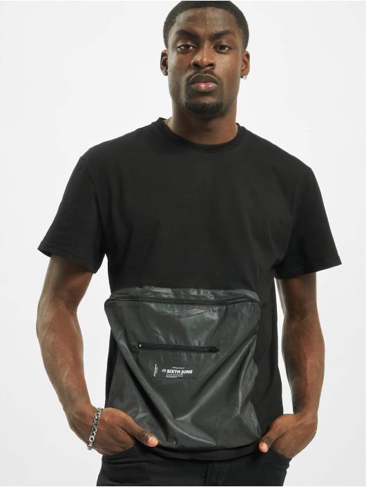 Sixth June T-Shirt Reflective Pocket black