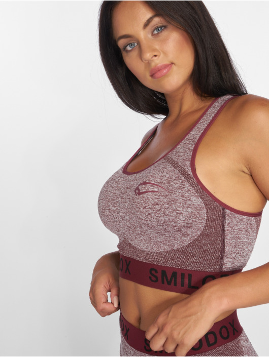 Smilodox Sports Bra Seamless red