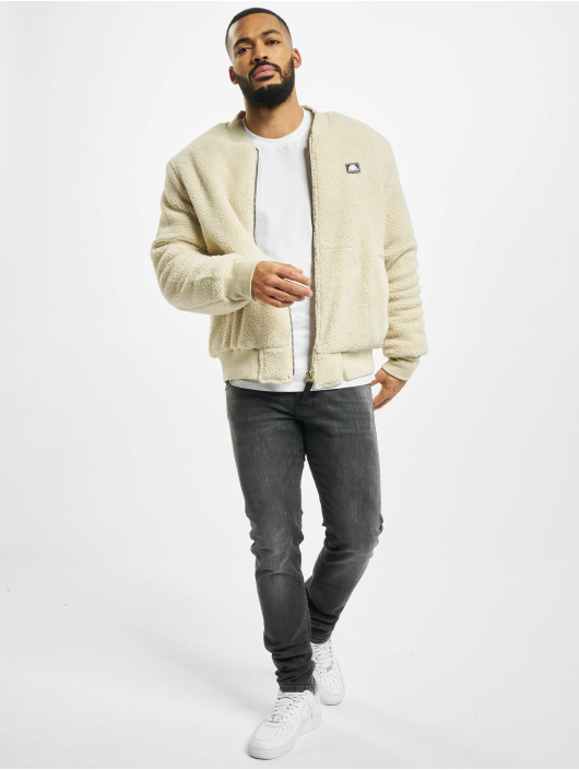 Southpole Bomber jacket Sherpa beige