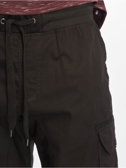 Southpole Short Jogger Cargo Fine Twill black