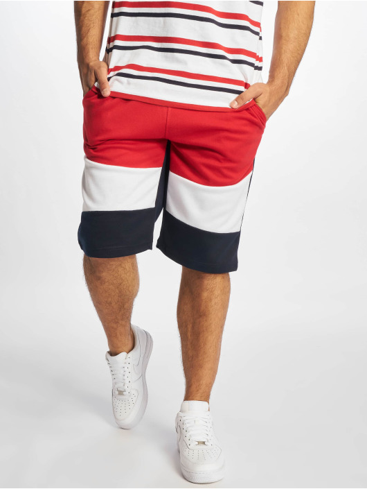 Southpole Short Color Block Tech Fleece red