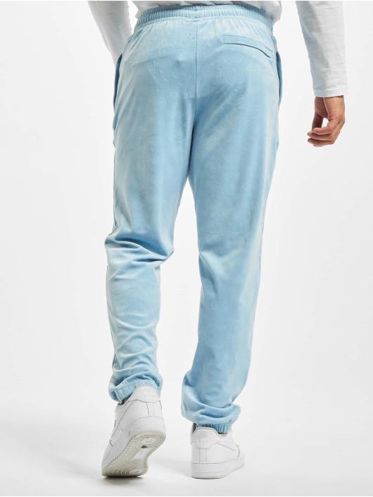 Southpole Sweat Pant Aop Velour blue