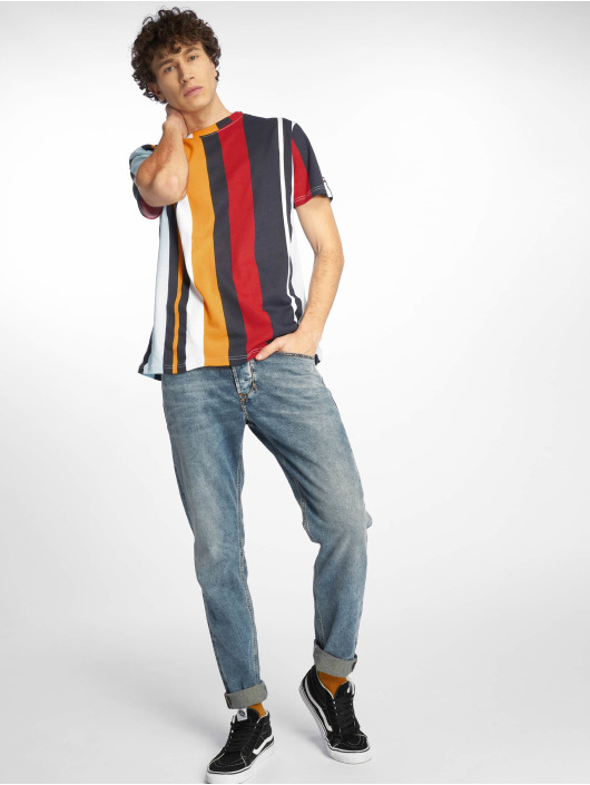 Southpole T-Shirt Vertical Stripe Print blue