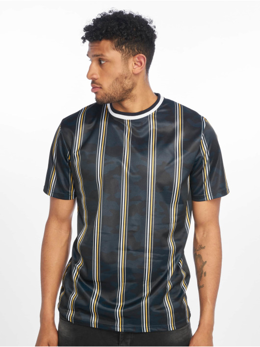 Southpole T-Shirt Thin Vertical Stripes blue