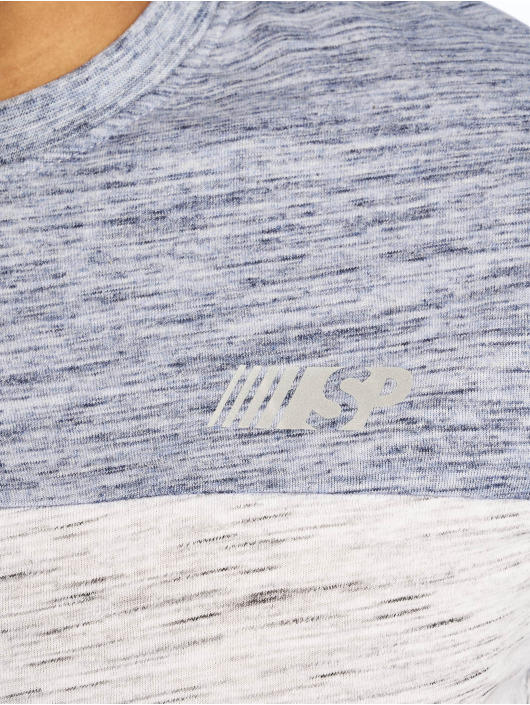 Southpole T-Shirt Color Block Tech blue