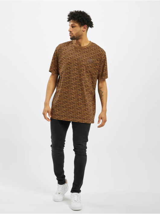 Southpole T-Shirt Logo All Over Print brown