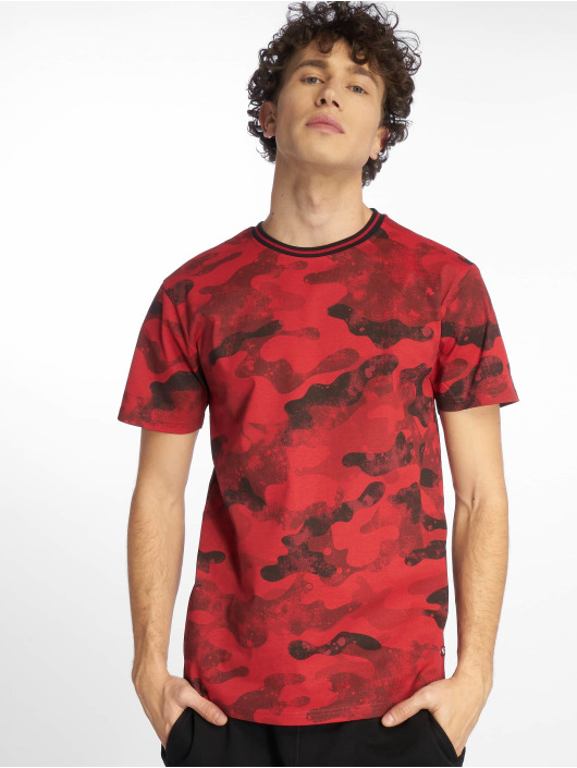 Southpole T-Shirt Camo & Splatter Print red