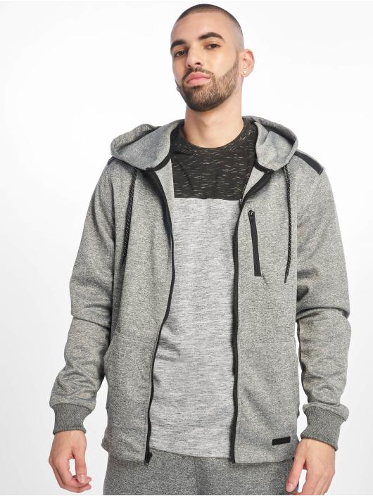 Southpole Zip Hoodie Tech Fleece gray