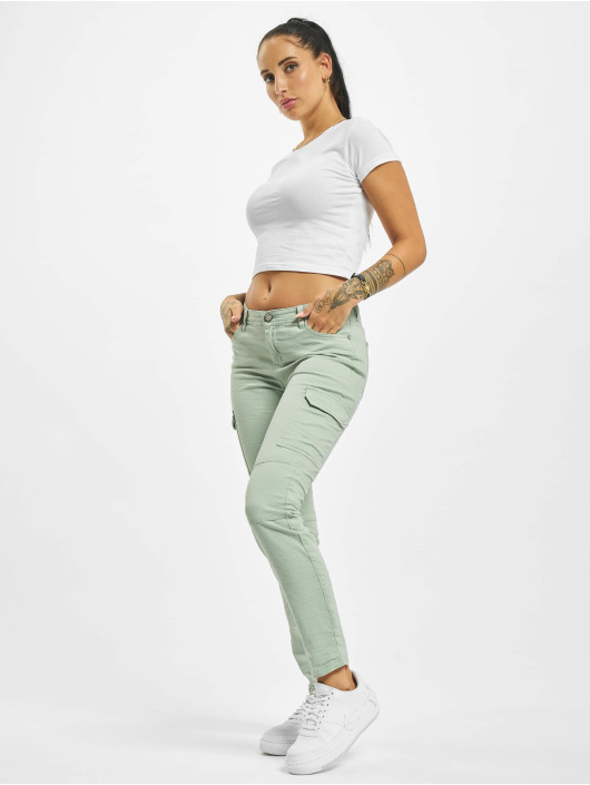 Stitch & Soul Cargo pants Magda green