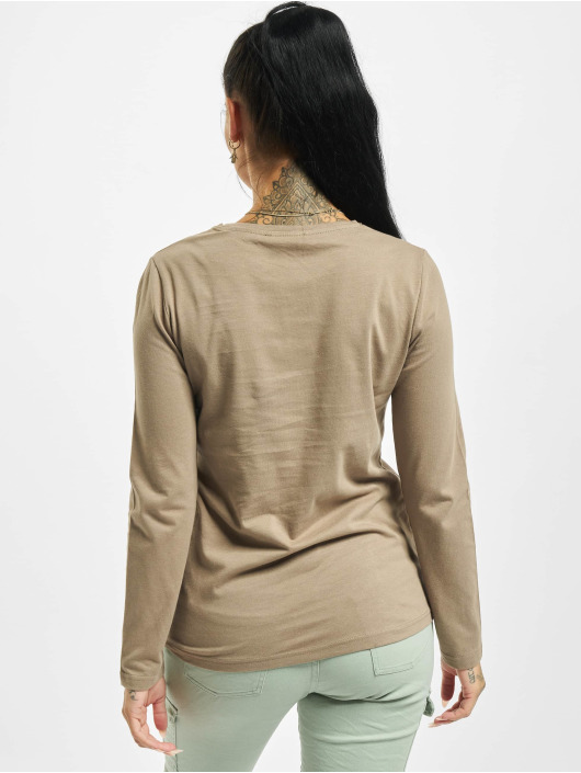Stitch & Soul Longsleeve Hearted brown