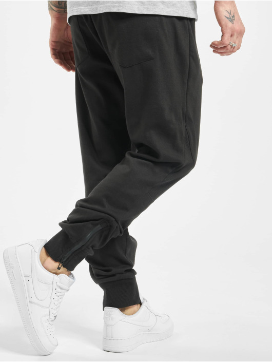 Stitch & Soul Sweat Pant Ribbed Knee black