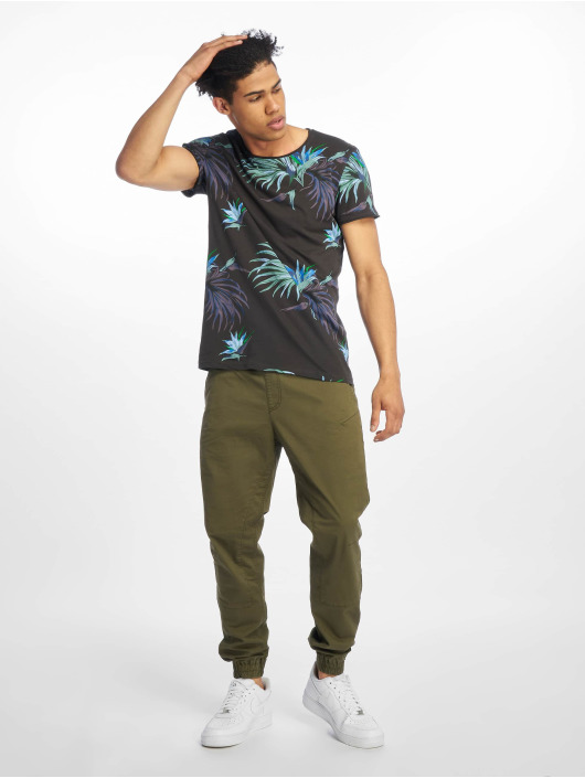 Stitch & Soul T-Shirt Floral gray