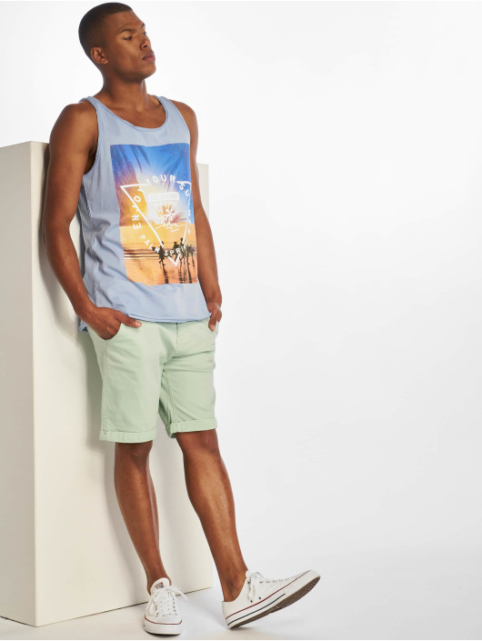 Stitch & Soul Tank Tops Enjoy blue