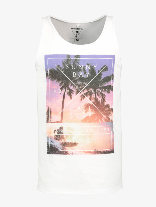 Stitch & Soul Tank Tops Haka white