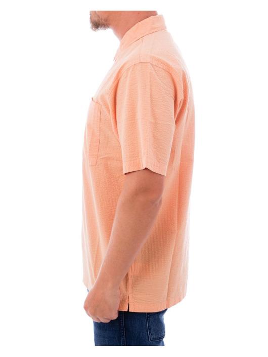 Stüssy Shirt Half Zip Seersucker pink