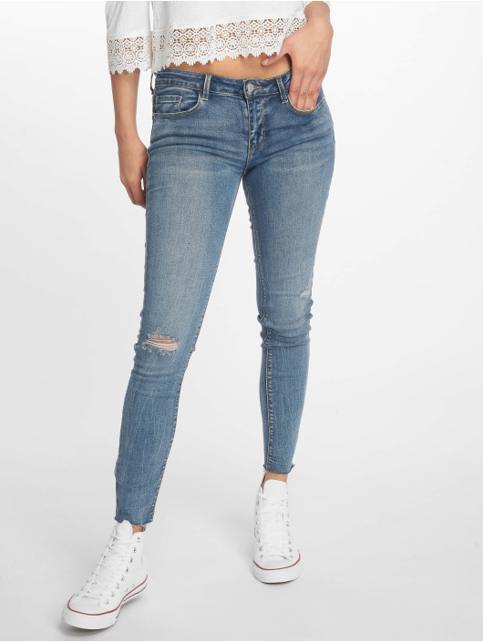 Tally Weijl Skinny Jeans Low Waist blue
