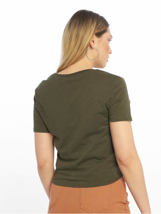 Tally Weijl T-Shirt Basic Knitted olive