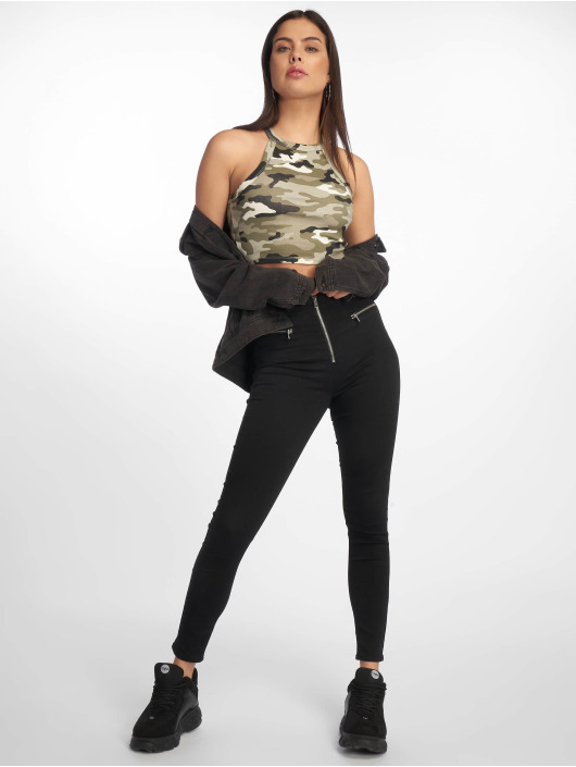 Tally Weijl Top Basic Knitted camouflage