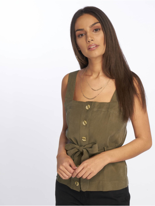 Tally Weijl Top Fake Tencel khaki