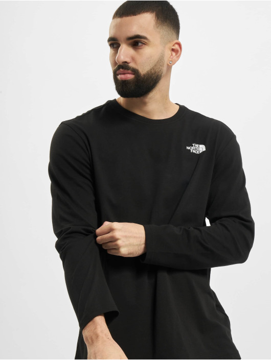 The North Face Longsleeve Red Box black