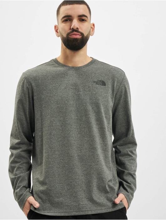 The North Face Longsleeve Red Box gray