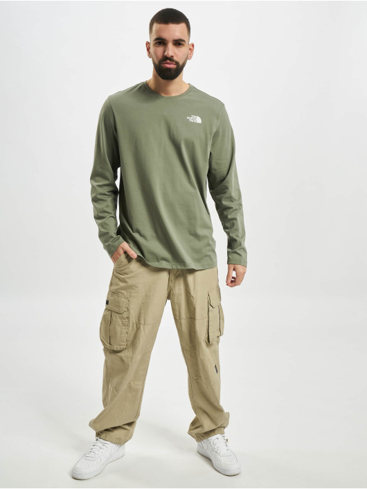 The North Face Longsleeve Face Easy green