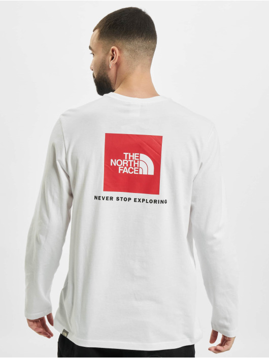 The North Face Longsleeve Red Box white