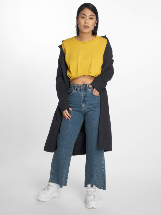 The Ragged Priest High Waisted Jeans Grip Cropped Skater blue