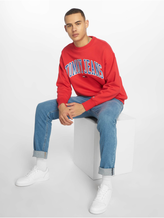 Tommy Jeans Pullover Clean Collegiate red