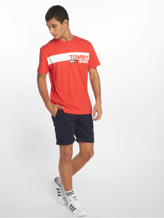 Tommy Jeans T-Shirt Essential Box Logo red