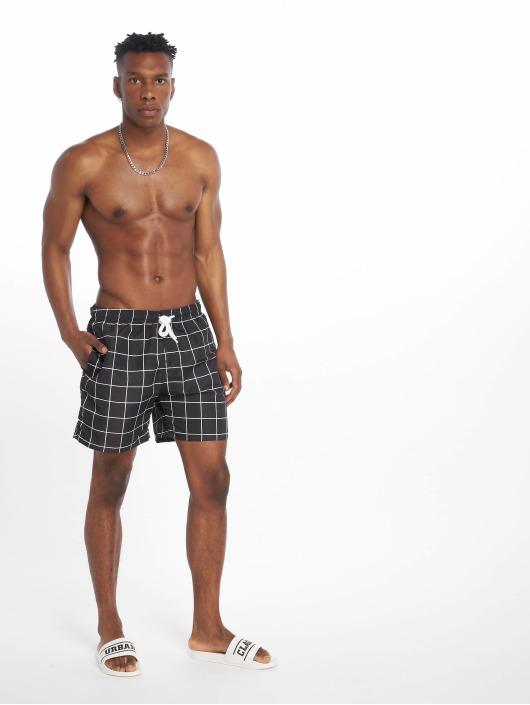 Urban Classics Badeshorts Check Swim black