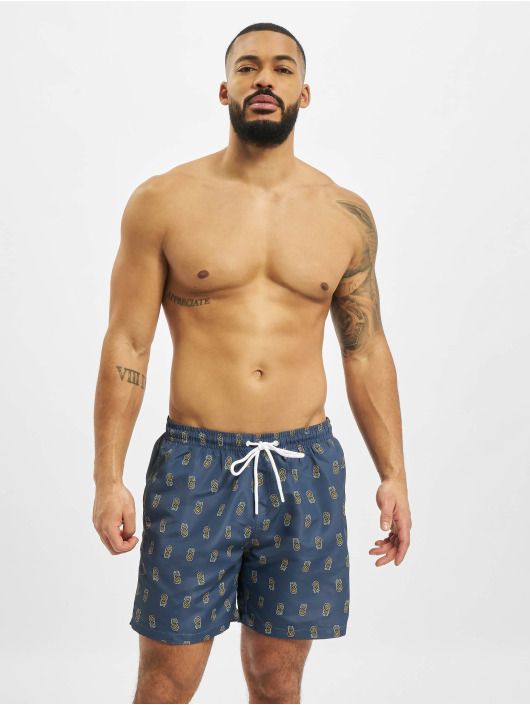 Urban Classics Badeshorts Pineapple blue