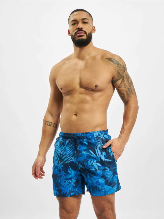 Urban Classics Badeshorts Pattern  Swim Trunks blue