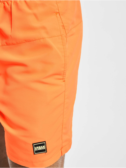 Urban Classics Badeshorts Block  2-Pack orange