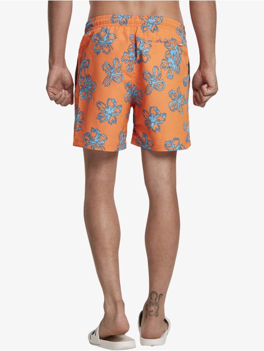 Urban Classics Badeshorts Floral orange