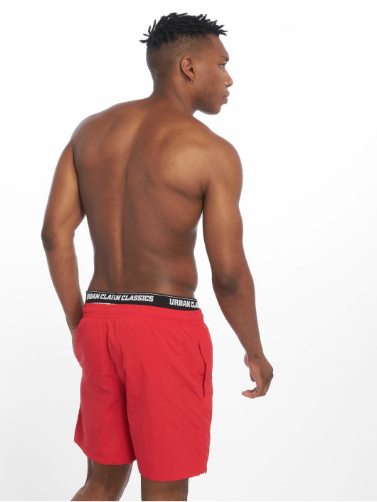 Urban Classics Badeshorts Two In One red