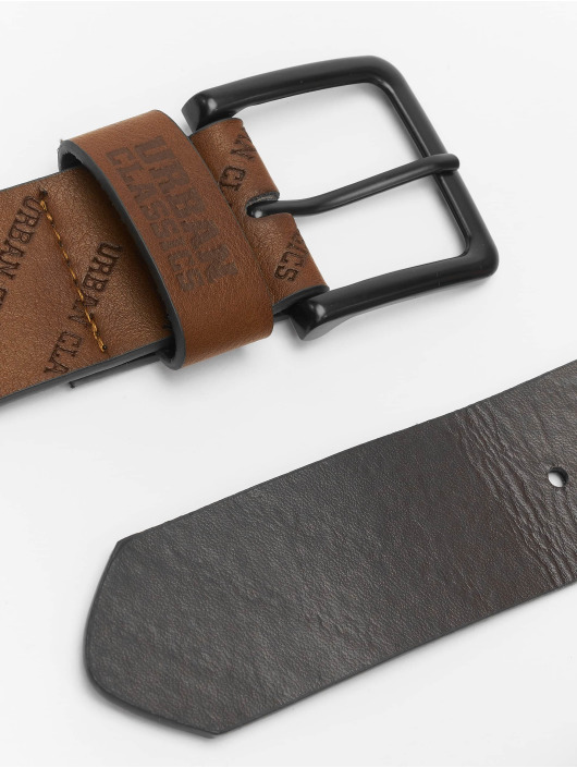Urban Classics Belt Allover Logo brown