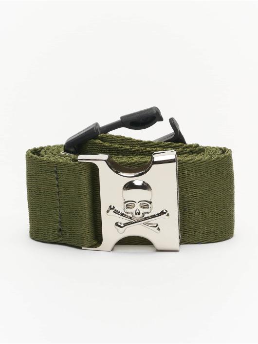 Urban Classics Belt Skull Buckle olive