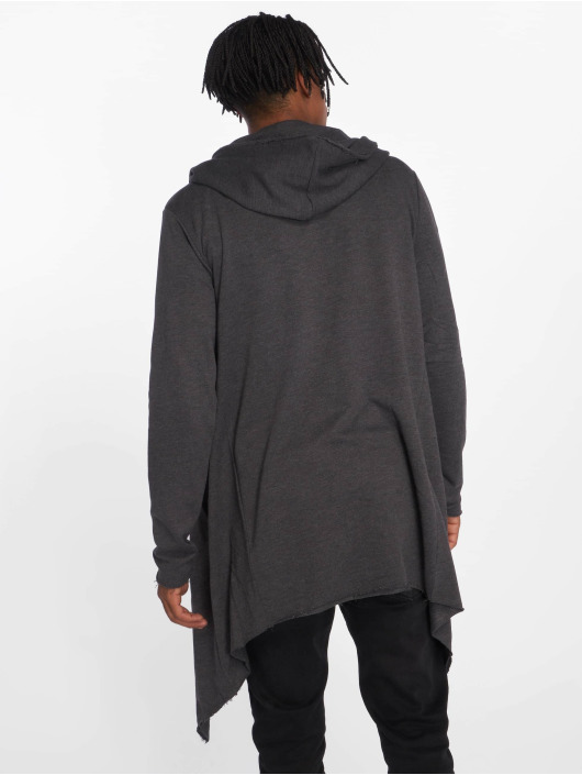 Urban Classics Cardigan Long Hooded gray