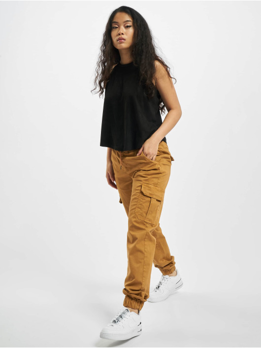 Urban Classics Cargo pants Ladies High Waist Cargo brown
