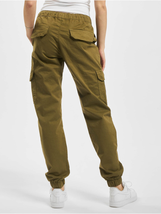 Urban Classics Cargo pants Ladies High Waist Cargo Jogging olive