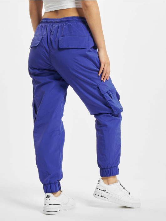 Urban Classics Cargo pants Ladies High Waist Crinkle Nylon purple