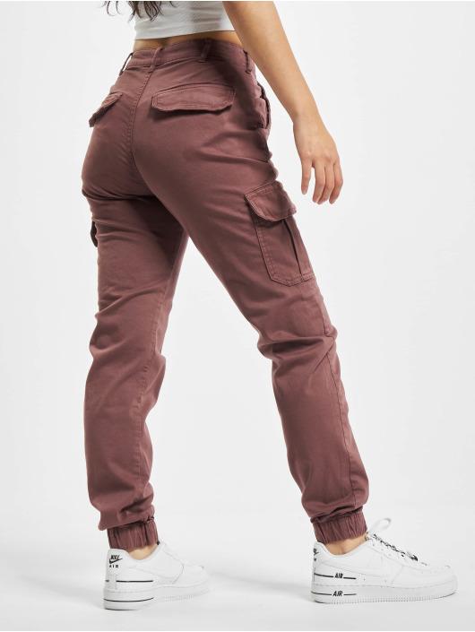 Urban Classics Cargo pants Ladies High Waist red