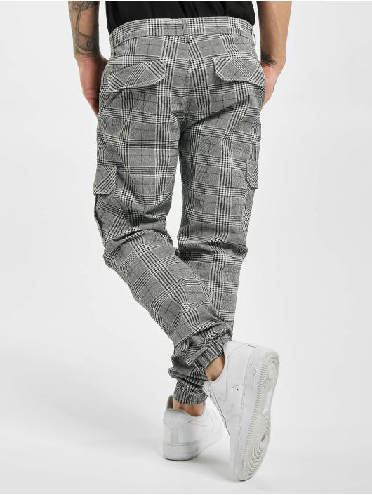 Urban Classics Cargo pants AOP Glencheck white