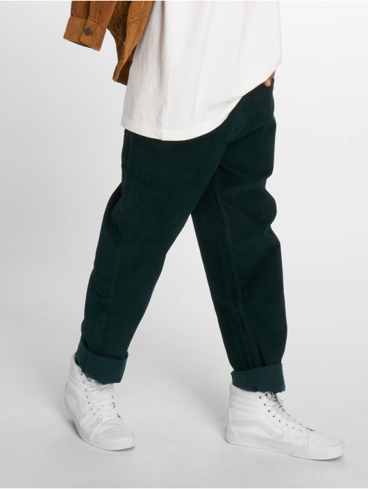 Urban Classics Chino pants Corduroy 5 Pocket green