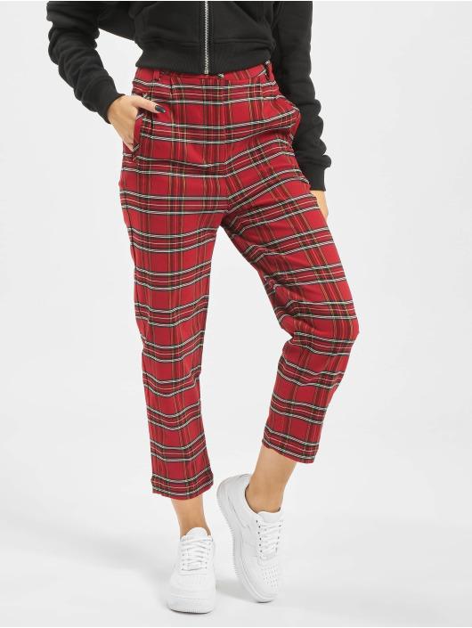 Urban Classics Chino pants Checker red